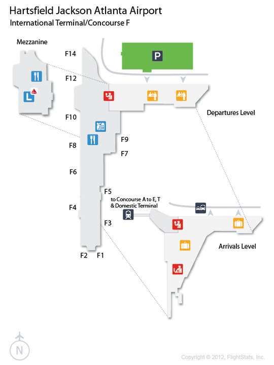 Atlanta Airline Terminal Map Pictures To Pin On Pinterest
