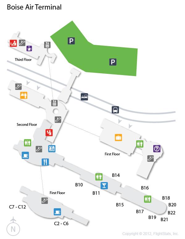 Boise Airport Map  U2013 Bnhspine Com