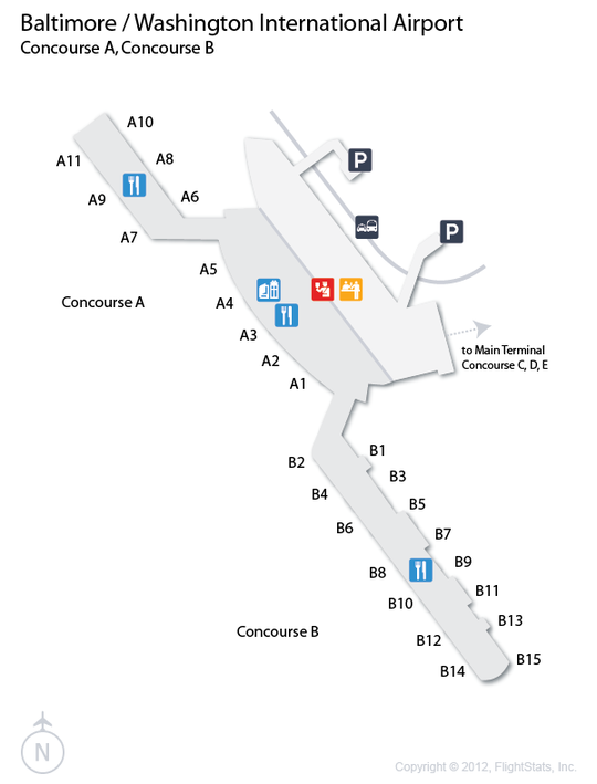 Alfa Img  Showing Gt BWI Airport Terminal Layout