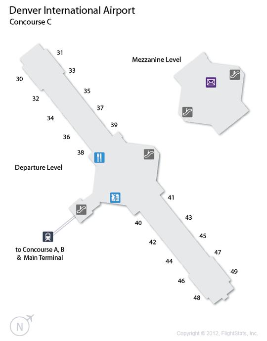 DEN Denver International Airport Terminal Map