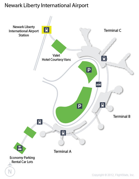 EWR Newark Liberty International Airport Terminal Map