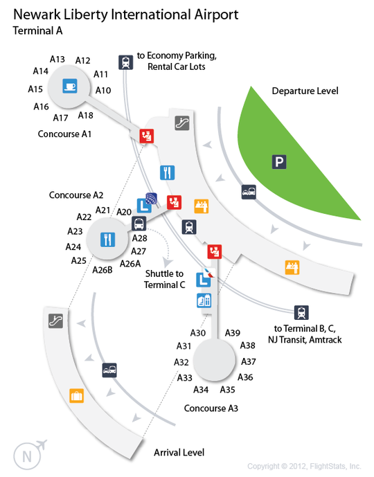 EWR Newark Liberty International Airport Terminal Map