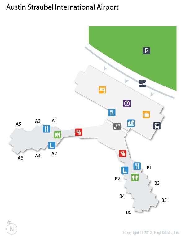 GRB Austin Straubel International Airport Terminal Map