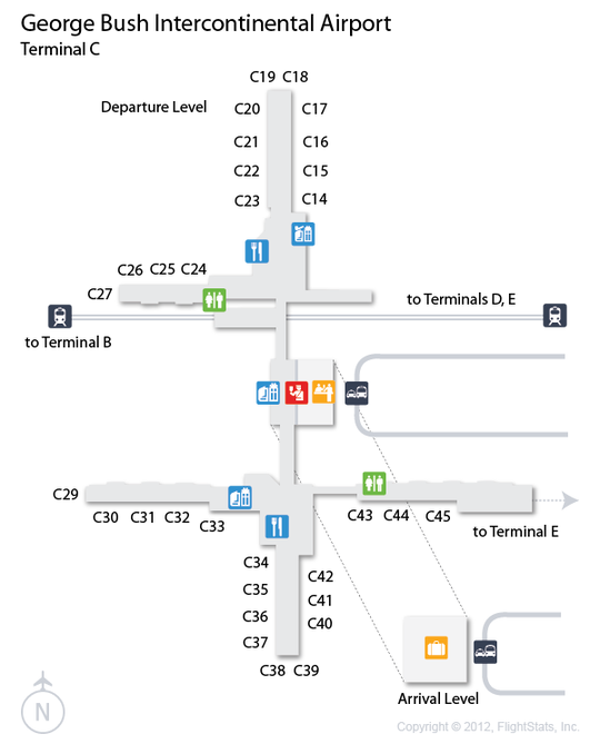 Iah Airport Map Related Keywords Amp Suggestions  Iah