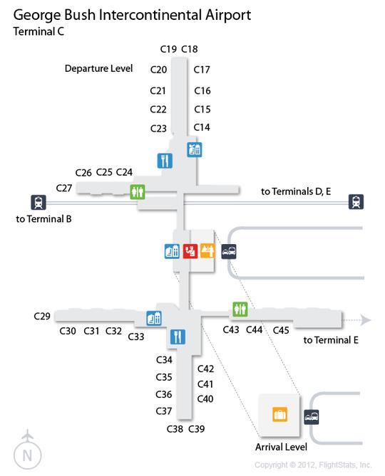 Houston Terminal C Map