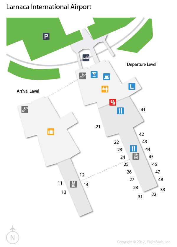 Резултат слика за larnaca airport map