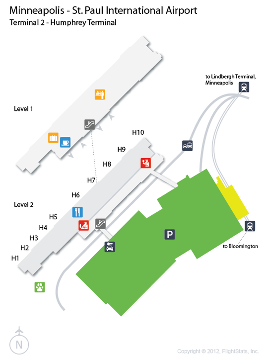 Minneapolis International Airport Map