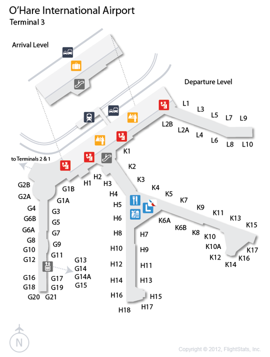 Orlando international airport rental car return map
