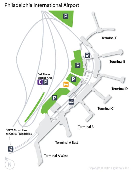 Philadelphia International Airport Terminal Map