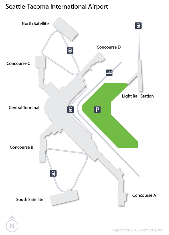 SEA SeattleTacoma International Airport Terminal Map