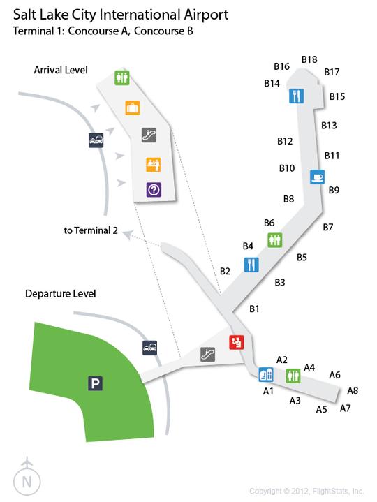 SLC Salt Lake City International Airport Terminal Map