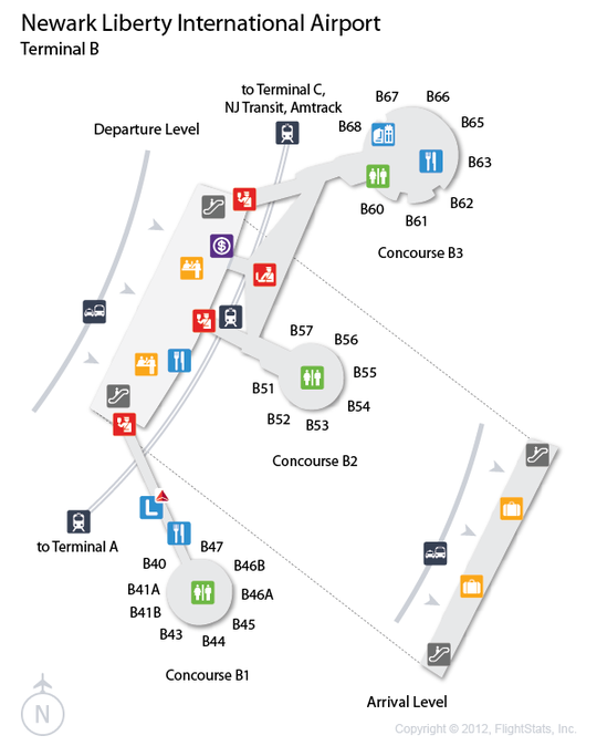 22 Awesome Map Newark Airport Terminals